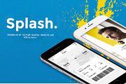 Splash. UI Kit-Graphicriver中文最全的素材分享平台