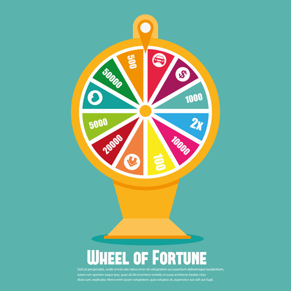 Wheel Of Fortune. Flat icon - Icons