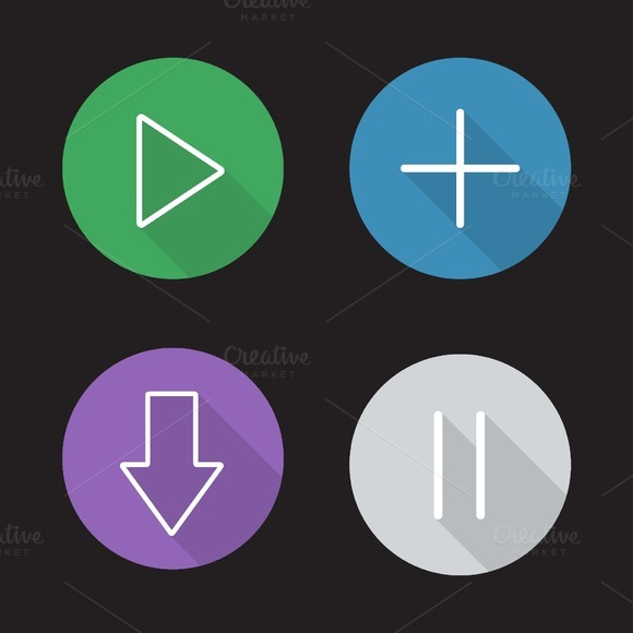 Audio player icons. Vector - Icons