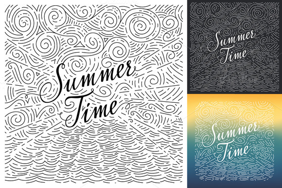 Summertime. Vector illustration - Illustrations