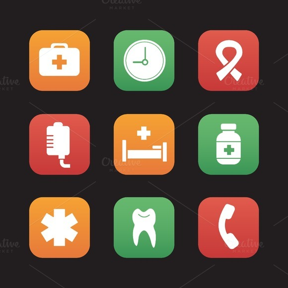 Hospital icons. Vector - Icons