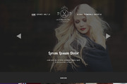 Hair Salon PSD Website Temp-Graphicriver中文最全的素材分享平台