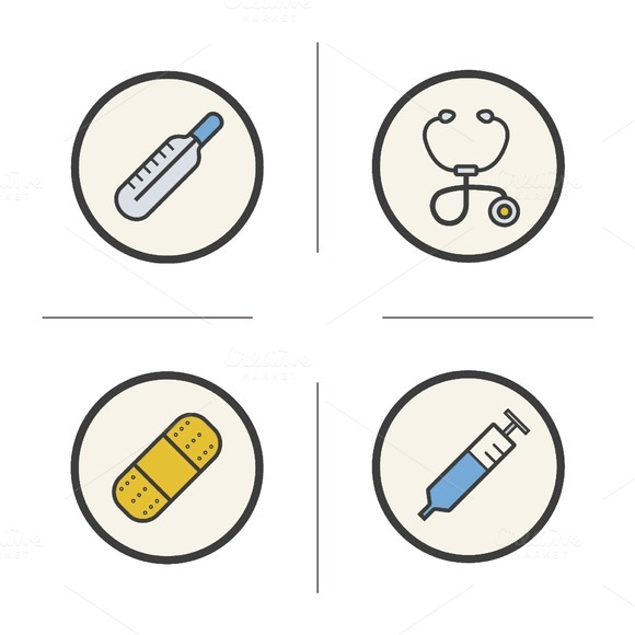 Medical equipment icons. Vector - Icons