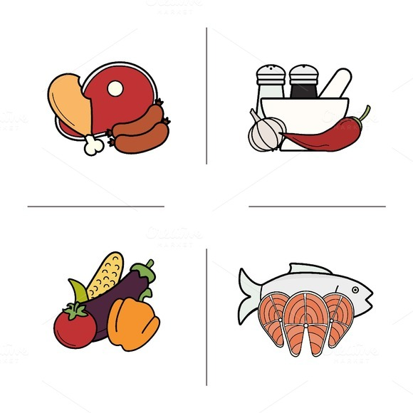 Food icons. Vector - Icons