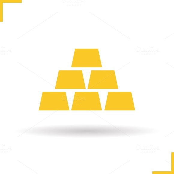 Gold bars icon. Vector - Icons