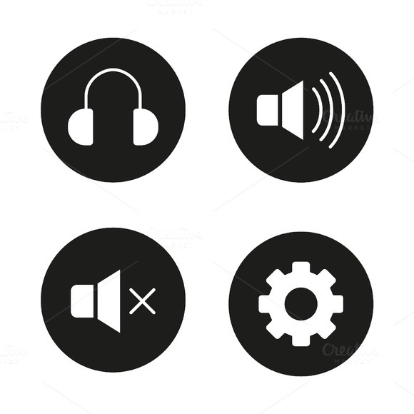 Music player icons. Vector - Icons