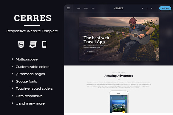 CERRES - Bootstrap Template