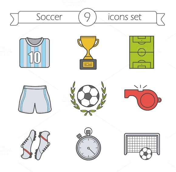 Soccer icons. Vector - Icons