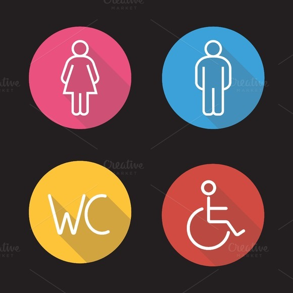 WC toilet door signs icons. Vector - Icons