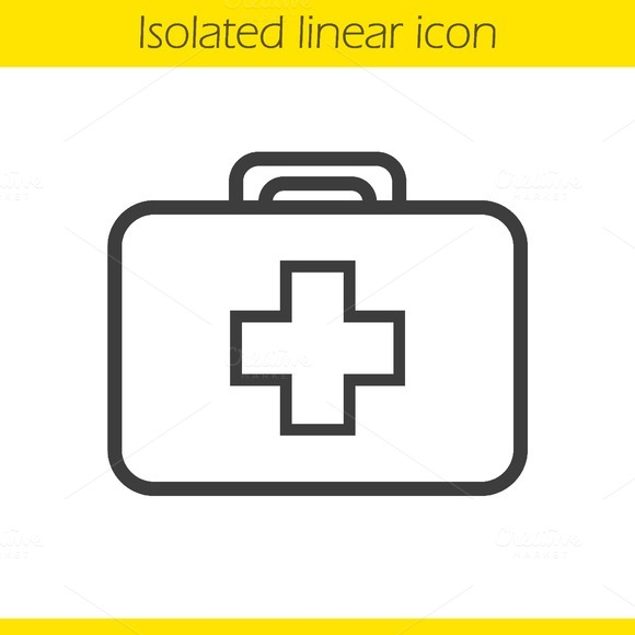 First aid kit icon. Vector - Icons