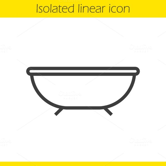 Bathtub icon. Vector - Icons