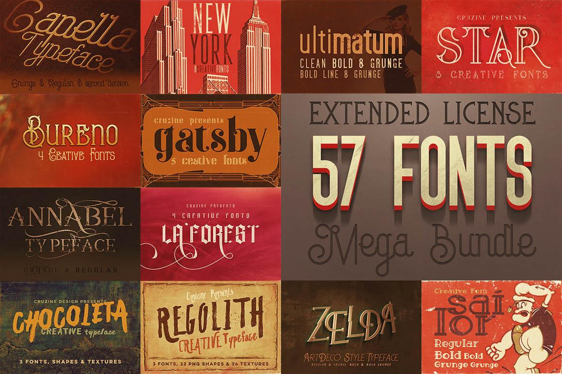 Download Cool Fonts MegaBundle - 57 Fonts ~ Display Fonts on ...