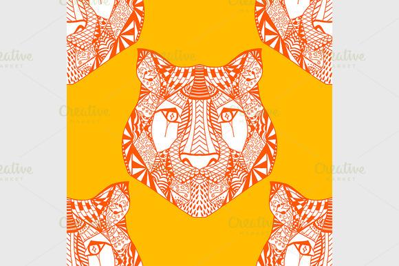 Tiger pattern. Vector illustration - Graphics