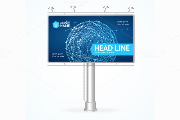 Billboard Concept. Vector - Illustrations