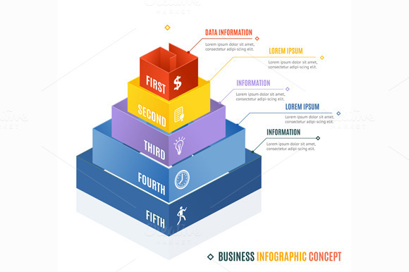 Business Infographic Concept. Vector - Illustrations