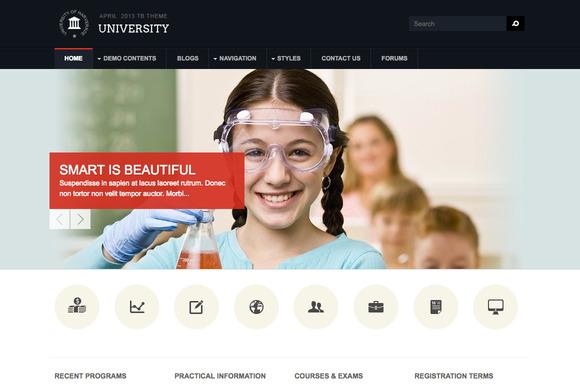 Education Drupal Theme TB University