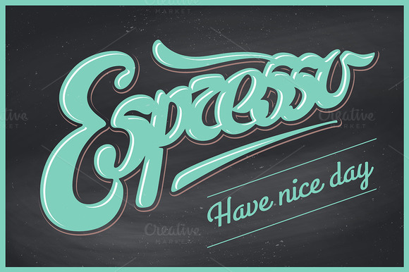 Lettering Espresso. Have nice day - Illustrations