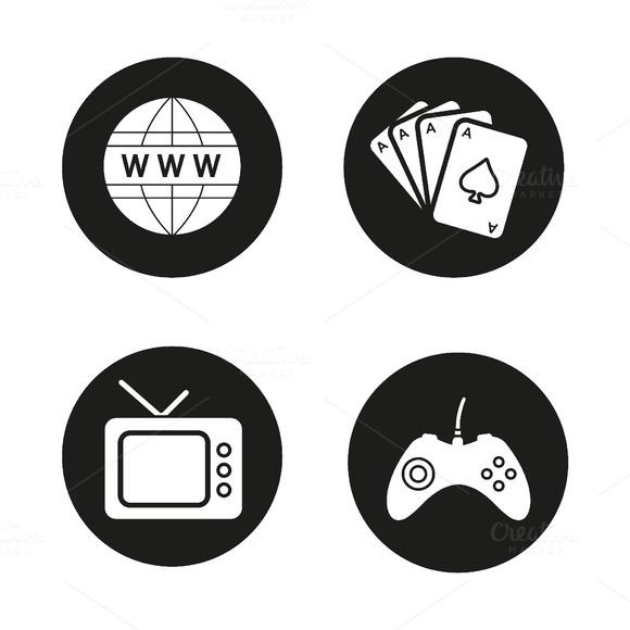 Addictions icons. Vector - Icons