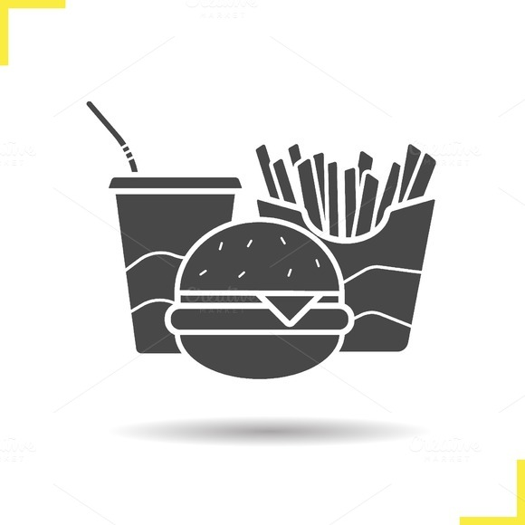 Fast food icon. Vector - Icons