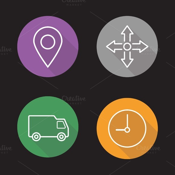 Delivery service icons. Vector - Icons