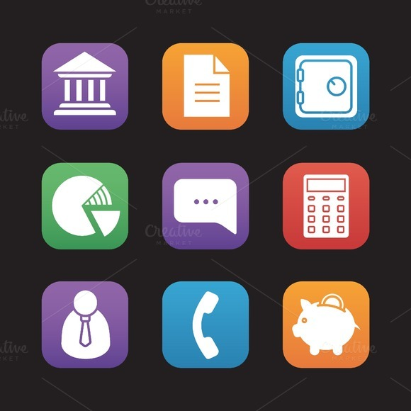 Bank icons. Vector - Icons
