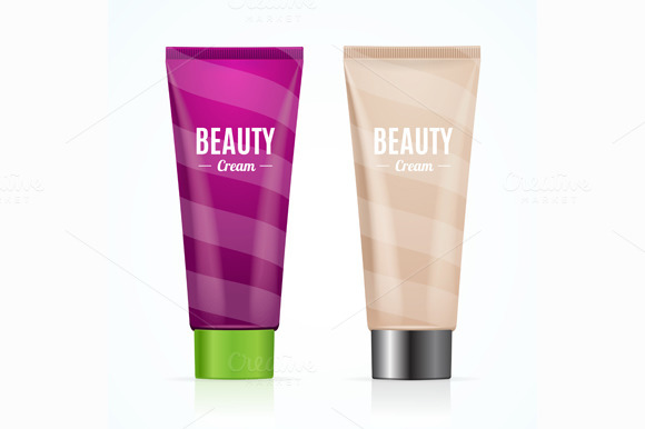 Cream Tube Mock Up Set. Vector - Illustrations