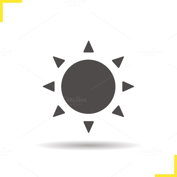 Sun icon. Vector - Icons