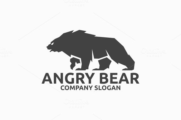 580 x 386 png 43kB, Angry Bear Logo ~ Logo Templates on Creative ...