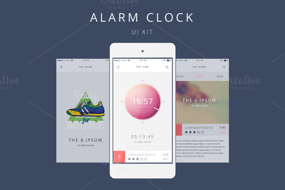 Vector Alarm Clock for Your Phone - Web Elements