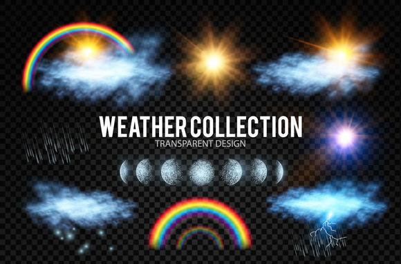 Weather & Forecast Set.Vector - Objects