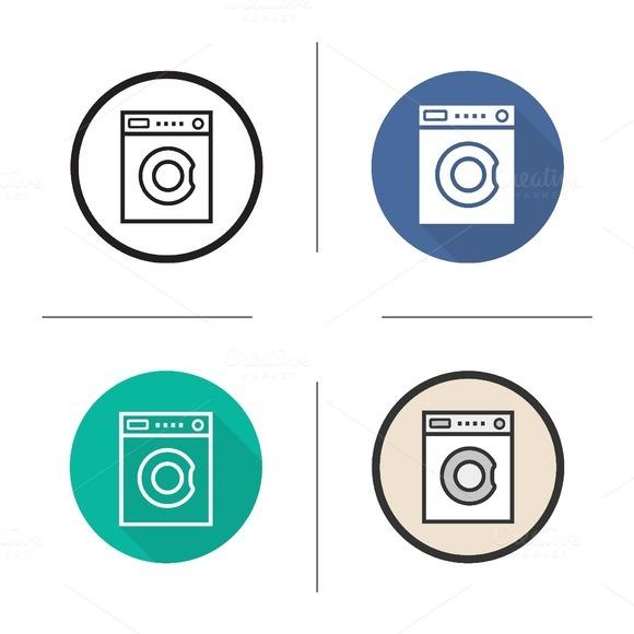 Washing machine icons. Vector - Icons