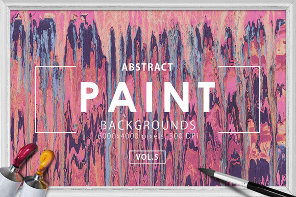 Abstract Paint Backgrounds Vol. 5 - Textures