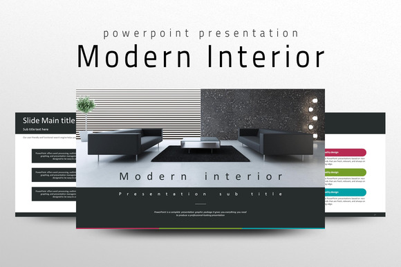 Modern Interior Ppt Template Presentation Templates On Creative Market