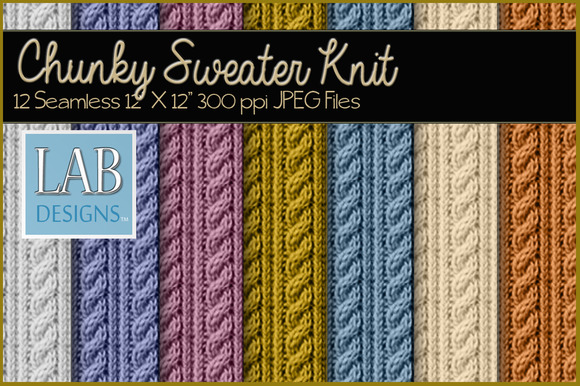 12 Chunky Knit Sweater Textures