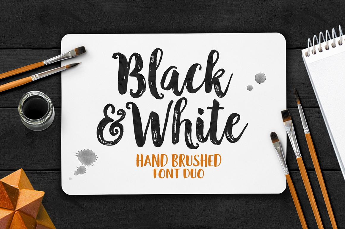 black  u0026 white font duo