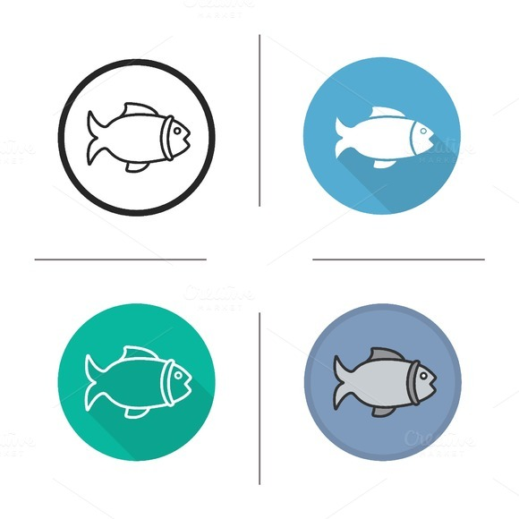Fish icons. Vector - Icons