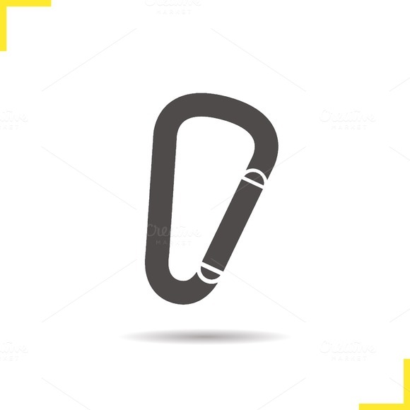 Carabiner icon. Vector - Icons