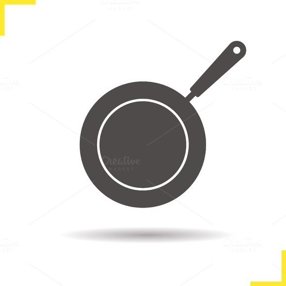 Frying pan icon. Vector - Icons
