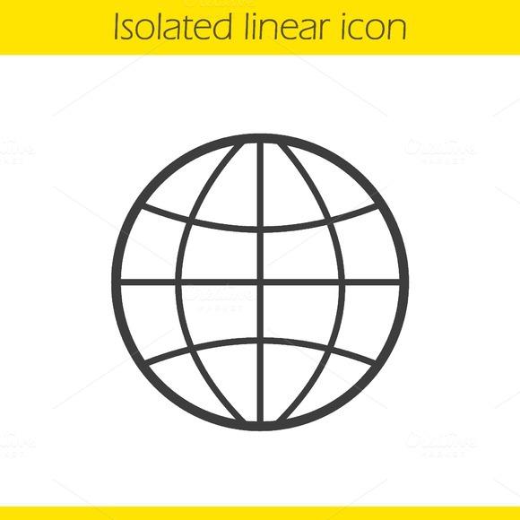 Globe icon. Vector - Icons