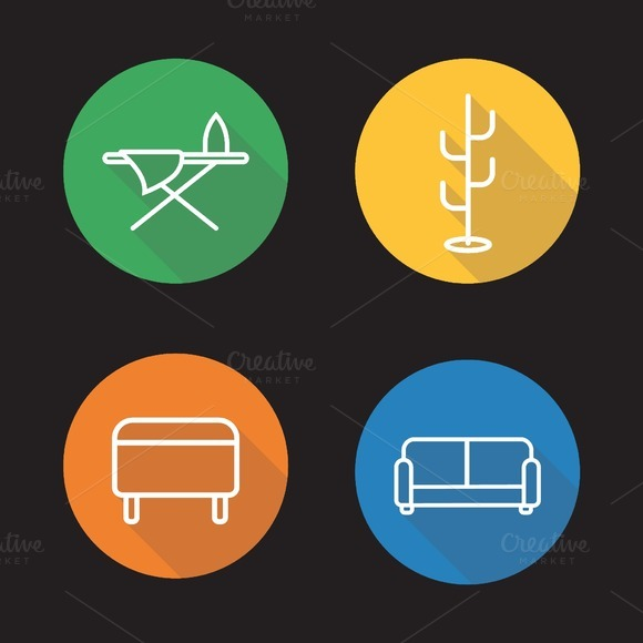 Furniture icons. Vector - Icons