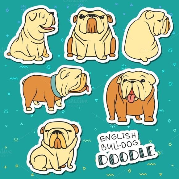 Doodle dog. Sticker dog - Objects