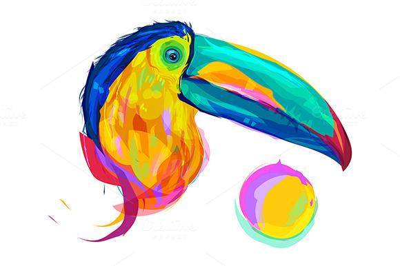 Toucan (Birds set. Vector) - Illustrations