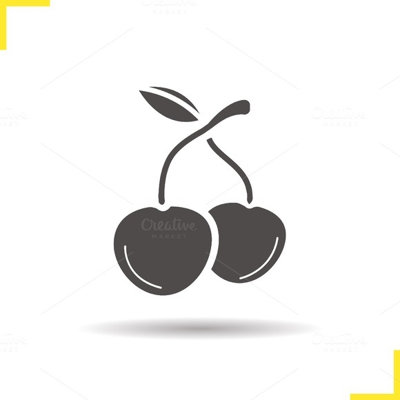 Cherries icon. Vector - Icons