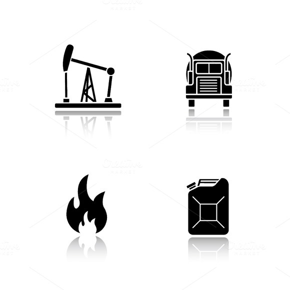 Fuel and gasoline icons. Vector - Icons
