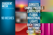 Gradient Mesh Backgrounds-Graphicriver中文最全的素材分享平台
