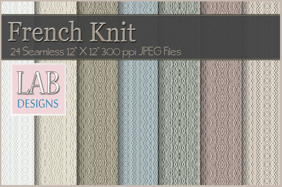 24 Seamless French Knit Textures
