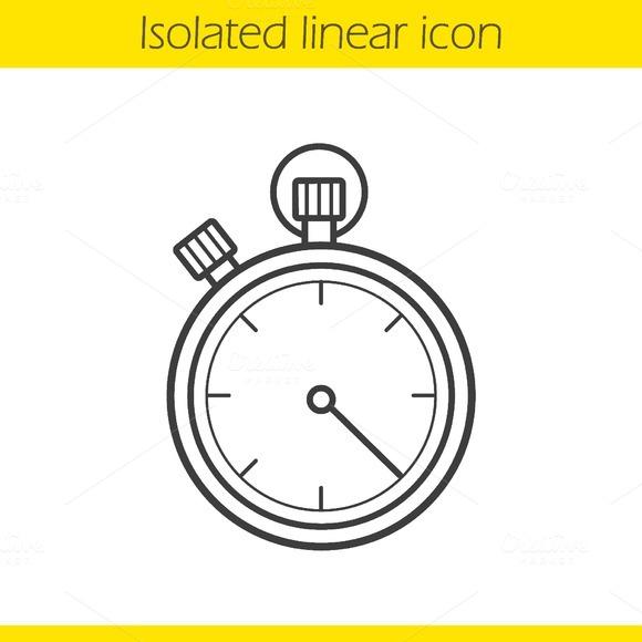 Stopwatch icon. Vector - Icons