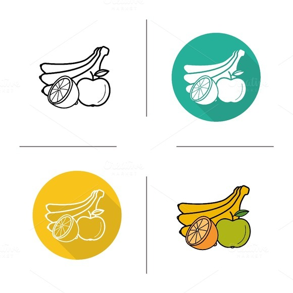 Fruit icons. Vector - Icons