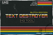 Text Destroyer: Glitch Edit-Graphicriver中文最全的素材分享平台