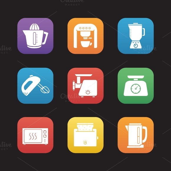 Kitchen electronics. Vector - Icons